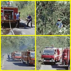 Pemadaman api di Perkebunan Sawangan Lansot Tomohon Selatan