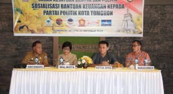 Pemkot Tomohon Sosialisasikan Bantuan Keuangan kepada Parpol