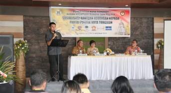 Ketua DPRD Tomohon Pemateri di Sosialisasi Bantuan Keuangan kepada Parpol