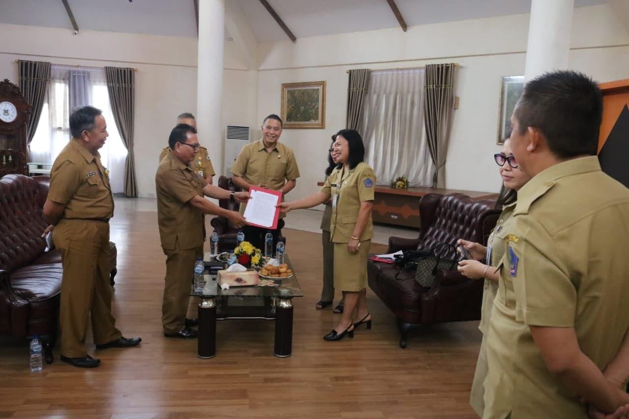 Pemerintah Kota Tomohon menerima hasil pemeriksaan Inspektorat Provinsi Sulut