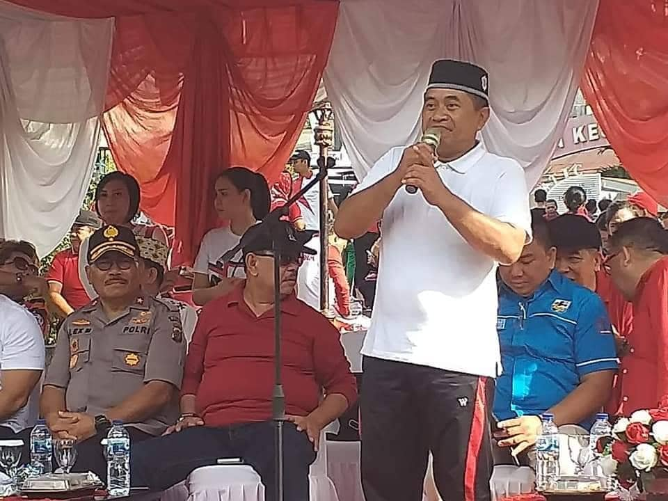 Zamroni Khan sata beroperasi di Parade Kebangsaan Sulut Cinta Damai di Manado