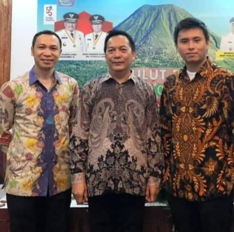 Pimpinan Sementara DPRD Tomohon sata menghadiri Pembukaan Sulut Expo 2019