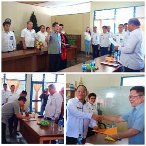 Pelantikan Direktur PDAM Marthen Semuel Gosal ST oleh Sekretaris Kota Ir Harold V Lolowang MSc MTh