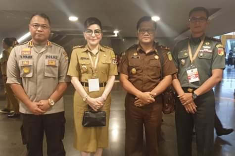 Dibuka Presiden Jokowi, Bupati CEP Hadiri Rakornas Forkompimda