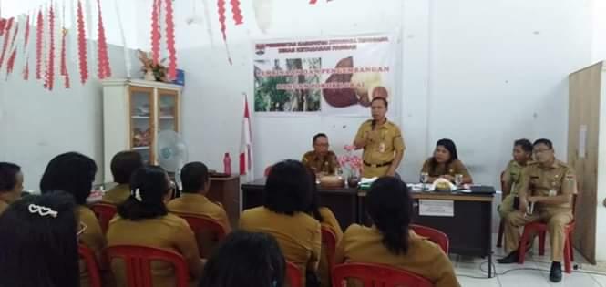 Dinas Ketahanan Pangan Mianahasa Tenggara Gelar Pembinaan Pengembangan Pangan Pokok Lokal
