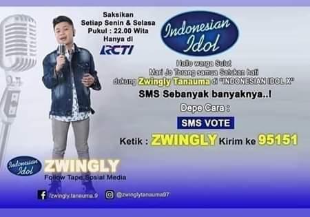 JS-Oke Ajak Warga Mitra Dukung Zwingly Tanauma di Ajang Pencarian Bakat Indonesia Idol X