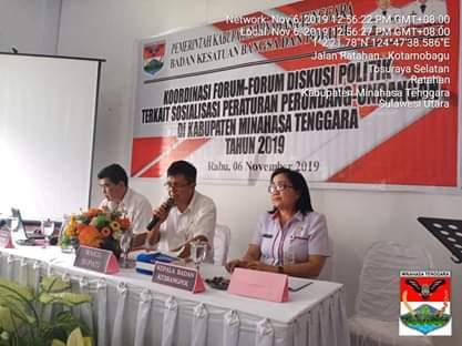KesbangPol Mitra Gelar Koordinasi Forum Diskusi Politik
