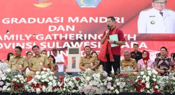 OD – SK Dampingi Mensos Juliari di Family Gathering PKH Sulut