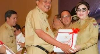 Terima DIPA Dari Gubernur Sulut, Bupati CEP Ingatkan SKPD Soal Serapan Anggaran