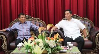Didampingi Wagub Kandouw, Jusuf Kalla Tinjau Kantor PMI Sulut dan Hadiri Pelantikan PW-DMI Sulut