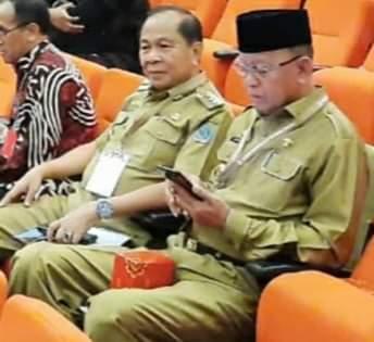 Walikota Bitung Maximilian Jonas Lomban saat menghadiri Rakornas Forkompimda di Bogor (ist)