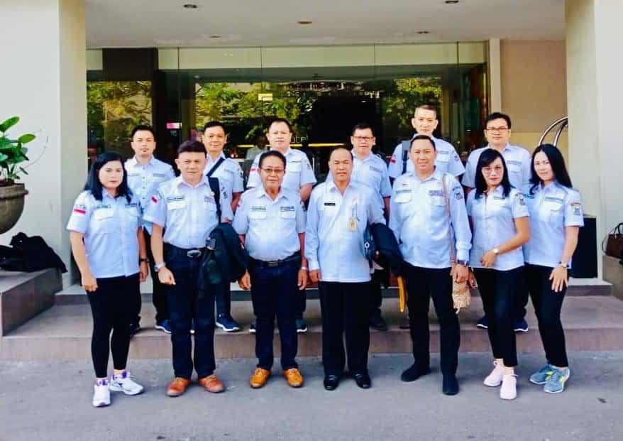 LPM Kota Tomohon bersama Kepala Badan Kesbangpol Tomohon