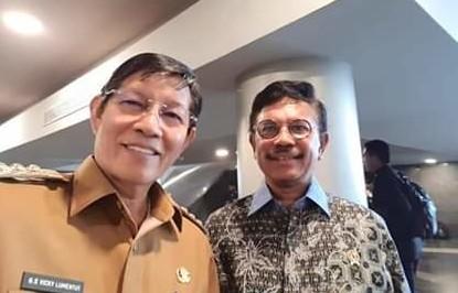 GSVL bertemu dengan Menteri Kominfo Johnny G. Plate di sela-sela pelaksanaan Rakornas