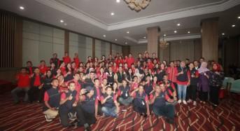 Mensos Juliari dan Wagub Kandouw Beri Motivasi Bagi TKSK Sulut