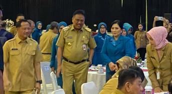 Gubernur Olly dan Ibu Rita Hadiri Pelantikan Ketum PKK Tri Suswati Tito Karnavian
