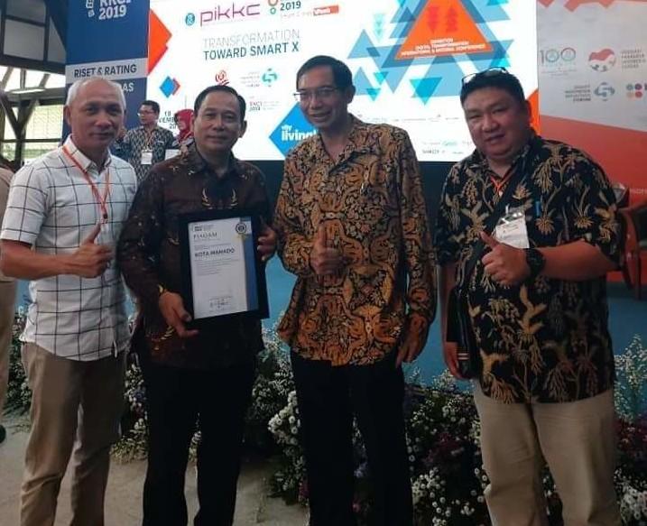 Manado Borong Empat Kategori di Ajang Penghargaan Rating Kota Cerdas 2019