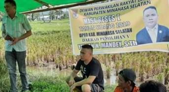 Julian Mandey Laksanakan Reses di Areal Persawahan