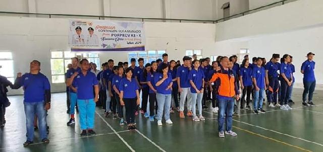 Kontingen Kota Manado yang berlaga di Porprov X 2019 di Kota Bitung
