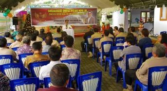 SBANL Sosialisasi Empat Pilar MPR-RI Bersama Tokoh Masyarakat dan Agama di Tomohon Selatan