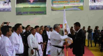 Hari Ini Panitia Open Tournament Karate Kajati Sulut Cup II Dilantik