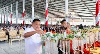 Gubernur Olly dan Wagub Kandouw Dampingi Mensos Liari Batubara Hadiri Ibadah Pra Natal GPdI Sulut