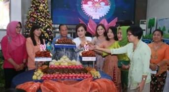 Walikota Hadiri Perayaan Natal TP-PKK dan DWP Bitung