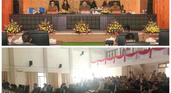 Wali Kota Tomohon Dengarkan Pemandangan Umum Fraksi tentang Ranperda Penyelenggaraan Kearsipan