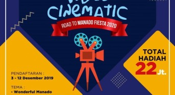 Sambut Manado Fiesta 2020, Dispar Manado Gelar Lomba Video Cinematic
