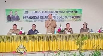 Giliran Perangkat Kelurahan Berdialog dengan Wali Kota  Tomohon