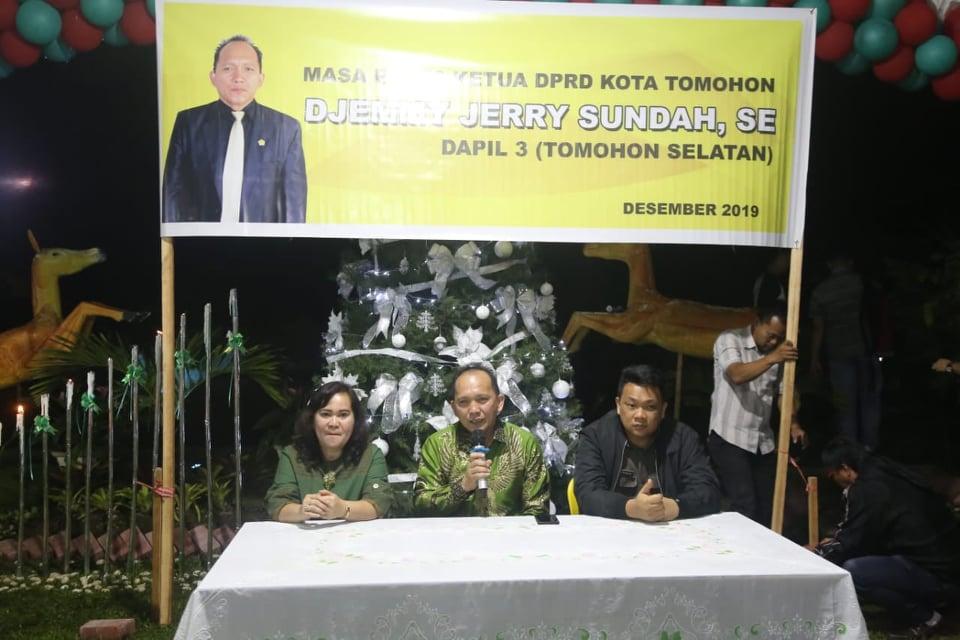 Ketua DPRD Tomohon Djemmy J Sundah sata menggelar reses