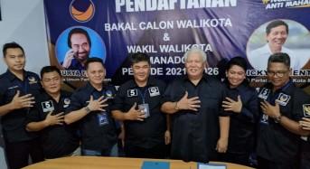 Imba Mendaftar Bakal Calon Wali Kota Manado di Partai NasDem