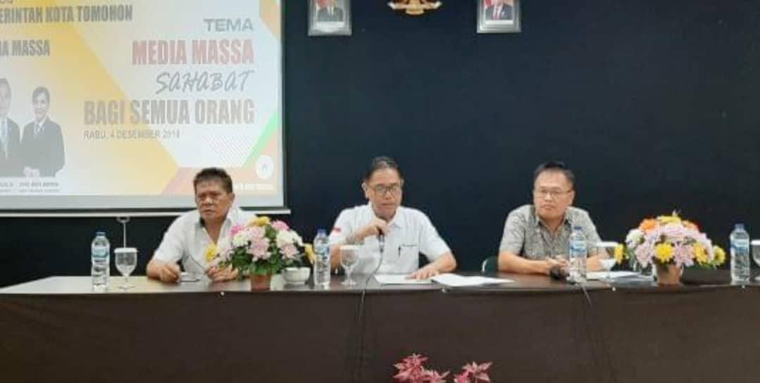 Dialog Pemerintah Kota Tomohon dengan para wartawan di Kota Tomohon