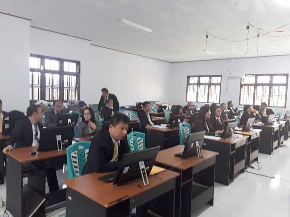 Para pejabat eselon III peserta seleksi terbuka
