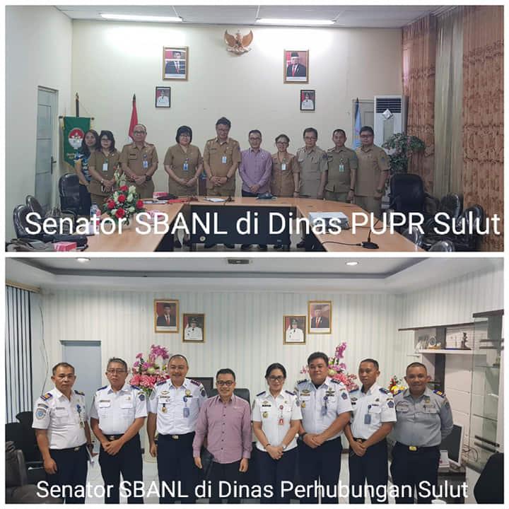Senator SBANL saat mengunjungi Dinas PUPR dan Dinas Perhubungan Sulut