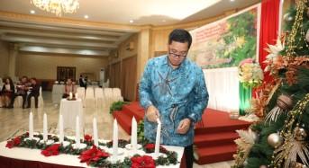 Wagub Kandouw Hadiri Ibadah Natal PMI Sulut