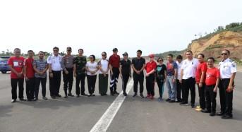 Tinjau Pembangunan Bandara Siau, Wagub Kandouw: Kalau Ada Kendala Sampaikan ke Pemprov Sulut
