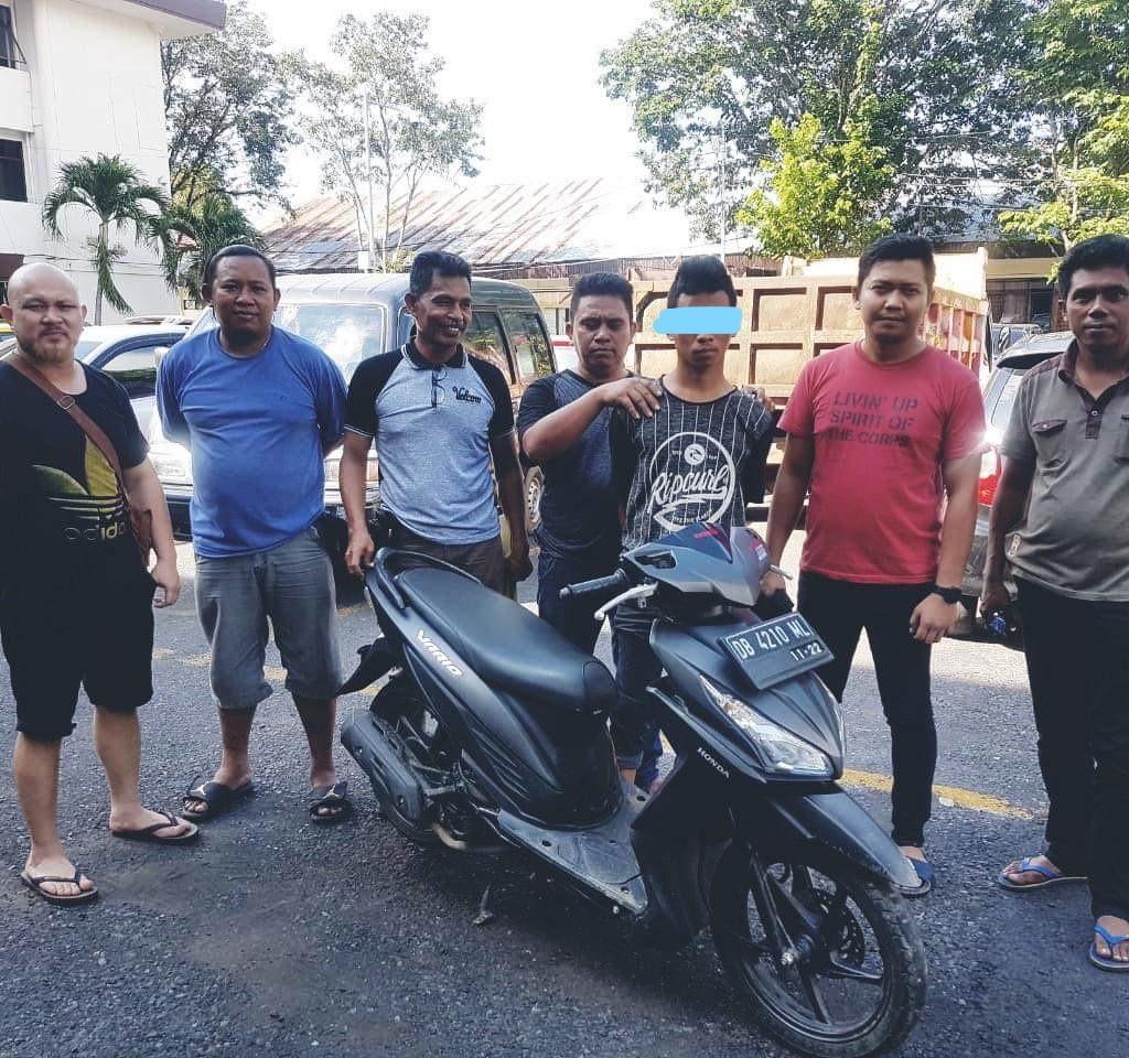 Adi Tersangka Pencurian di Tangkap Resmob Polda Sulut di Gorontalo