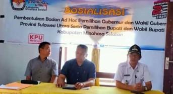 KPU Minsel: BPD dan Perangkat Desa Boleh Jadi PPK, PPS dan KPPS