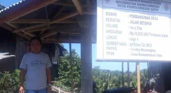 Pembangunan Infrastruktur Jadi Prioritas Program DD Tahun 2019 Desa Kumelembuai Satu