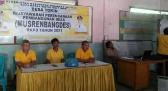 Musrembang RKPD 2021 Desa Tokin Hasilkan 116 Usulan