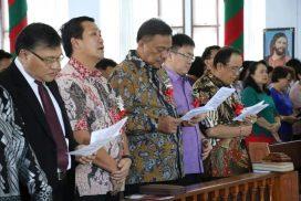 OD – SK Hadiri Ibadah Syukur KKPGA GMIM Rayon Minahasa