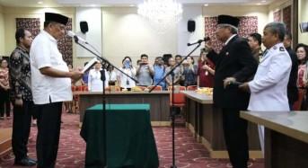 Gubernur Olly Lantik Diano Tino Tandaju Sebagai Kepala BKKBN Sulut