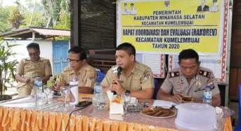 Rakor Perdana di Tahun 2020, Camat Kumelembuai Ingatkan Peningkatan Kinerja Perangkat Desa