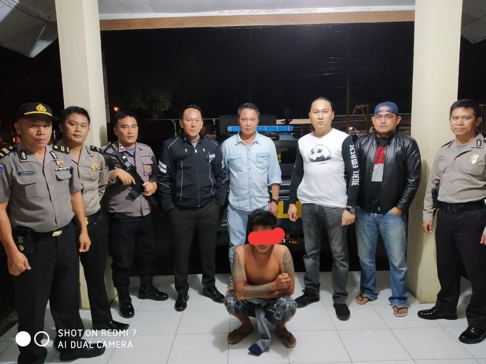Pelaku penganiayaan yang diamakan URC Totosik