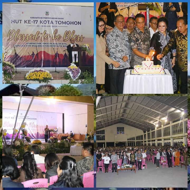 Kebaktian Penyegaran Iman dalam rangka Hari Jadi ke-17 Kota Tomohon