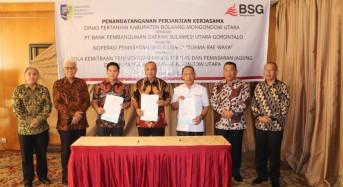 Tingkatkan Kesejahteraan Petani, BSG – Koperasi Tuama Raewaya MoU Penyaluran KUR di Bolmut