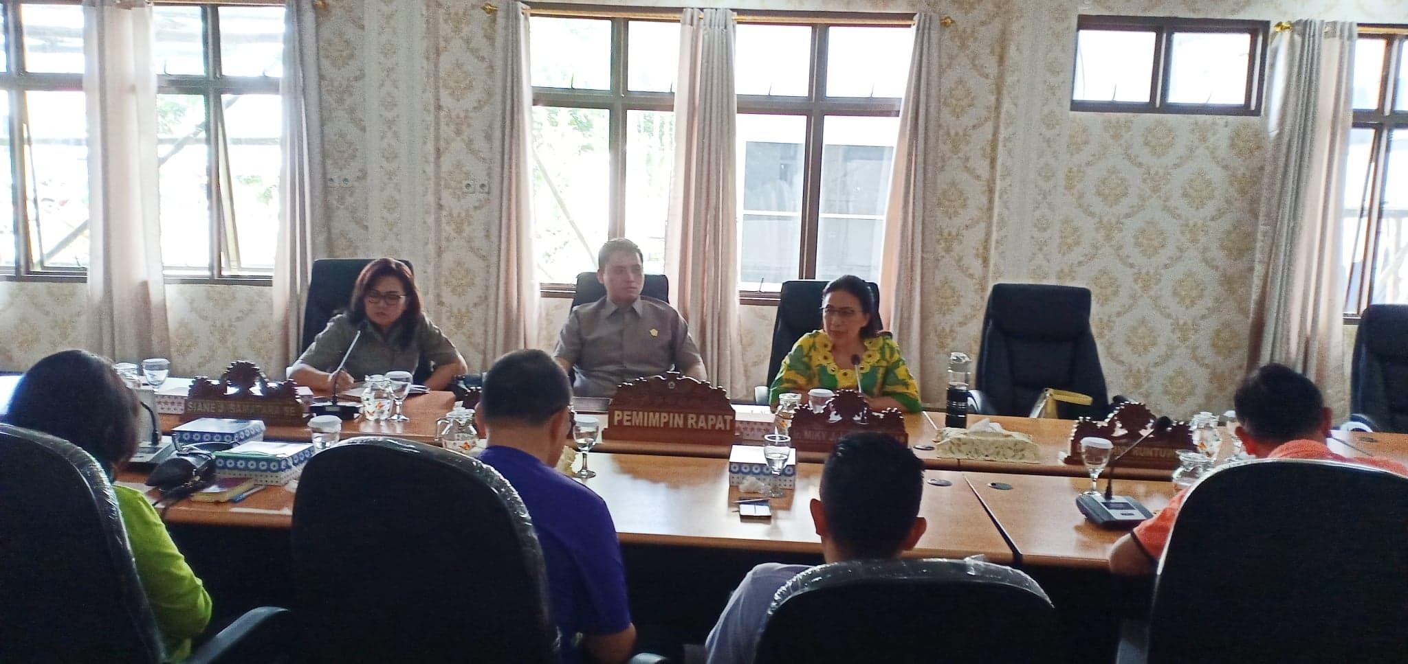 Komisi III DPRD Tomohon RDP dengan Tim Reaksi Cepat untuk mengantisipasi Virus Corona Pemkot Tomohon