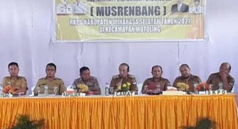 Laksanakan Musrembang RKPD 2021, Kecamatan Motoling Tetapkan 21 Program Prioritas