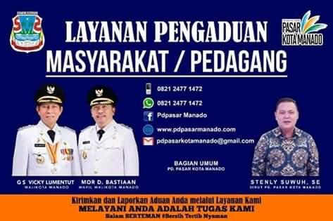 PD Pasar Manado Buka Layanan Pengaduan Bagi Masyarakat dan Pedagang