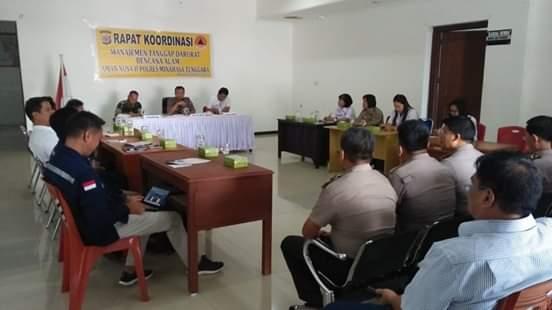 Polres Minahasa Tenggara Gelar Rapat Kordinasi Menajemen Tanggap Darurat Bencana